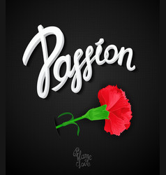 Passion poster design vector