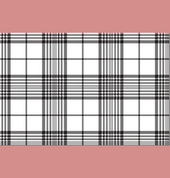 Pixels black and white check plaid seamless vector