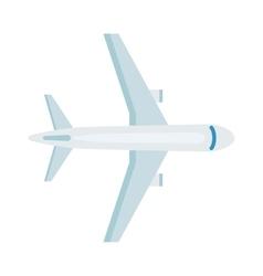 Plane top view vector image vector image