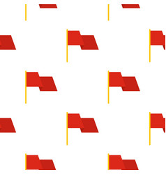 Red flag pattern flat vector