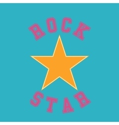 Rock star typography t-shirt graphics vector