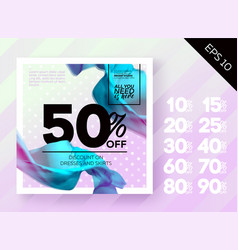 Romantic spring sale poster vector