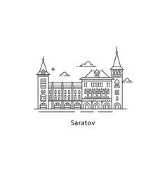 saratov logo isolated on white background saratov vector image
