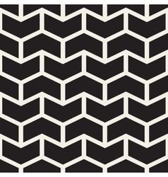 Seamless black and white chevron zigzag vector
