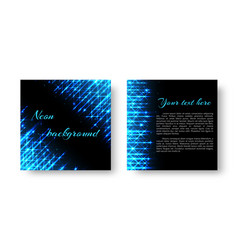 Square catalog with neon light vector