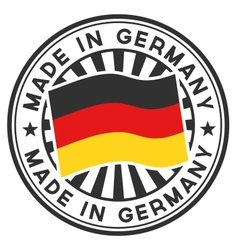 Stamp with flag of the germany made in germany vector