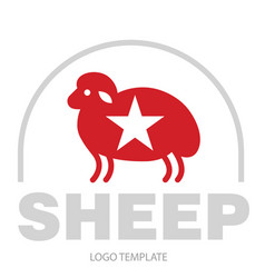 Stylized drawing of sheep vector