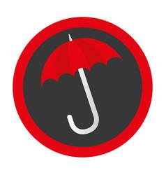 Umbrella protection symbol icon vector