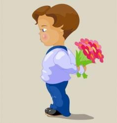 valentines boy vector image vector image