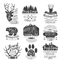 Vintage Forest Stamps Collection vector image vector image
