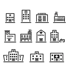 Hospital icon set vector