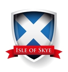 Scotland flag with isle of skye sign vector