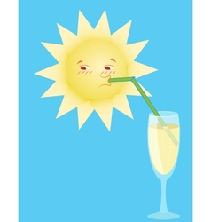 Sun drinks from a tubule vector