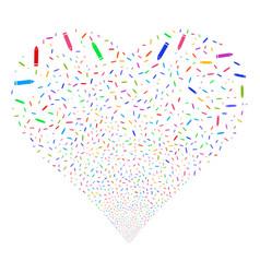 edit pencil fireworks heart vector image