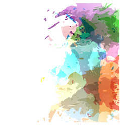 Bright modern watercolor stain composition vector