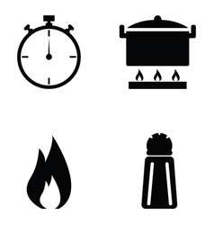 Cooking icon set vector