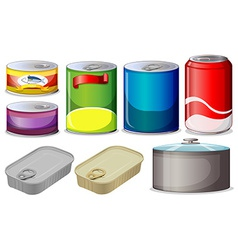 Set of cans vector image