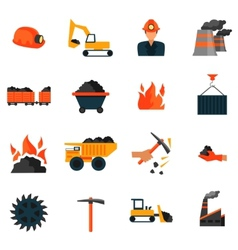 Coal industry icons vector