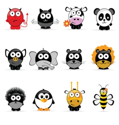 sweet and cute animal vector image
