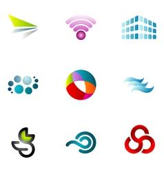 logo design elements set 62 vector image