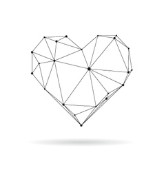 Geometric heart design silhouette vector