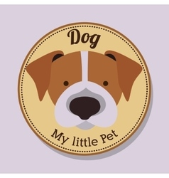 Pet dog design vector