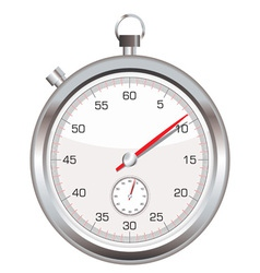 Silver stop watch vector