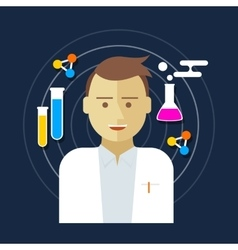 Chemist scientist lab vector