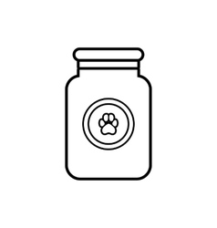 Treatment solution for animals icon outline style vector