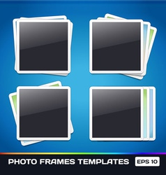 Template photo frames gallery vector