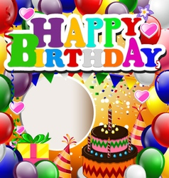 Birthday with balloon background vector