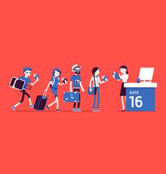 Air flight check queue vector
