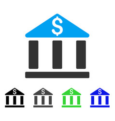 Bank office building flat icon vector