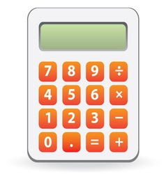 calculator isolated vector image vector image