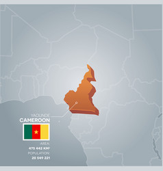 cameroon information map vector image vector image