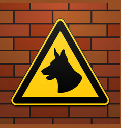 caution - danger be aware of dogs the area is vector image vector image