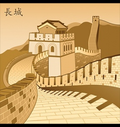 Chinese wall vector