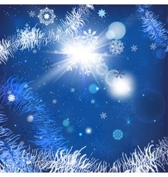 Christmas tinsel background vector image