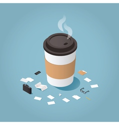 Coffee time at work vector image vector image