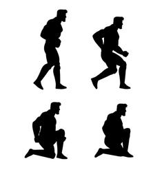 Crouching man animation sprite vector