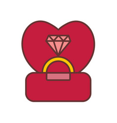 engagement diamond ring graphic vector image