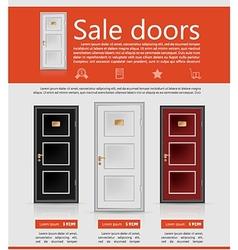 Flat minimalist template business design Doors vector image