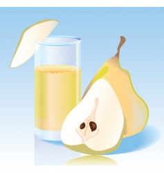 Fresh pear juice vector