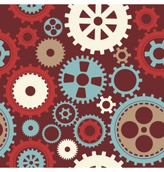 Gear cog silhouette seamless pattern vector image vector image