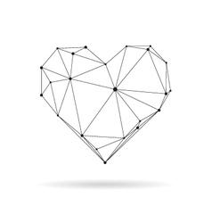 Geometric heart design silhouette vector