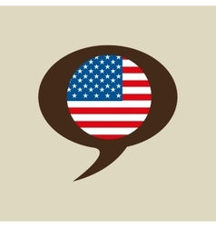Globe sphere flag usa country button graphic vector