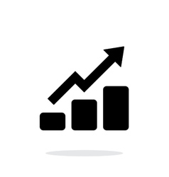 Graph up icon on white background vector image vector image
