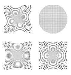 Halftone set vector