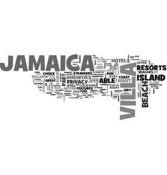 Jamaica text background word cloud concept vector