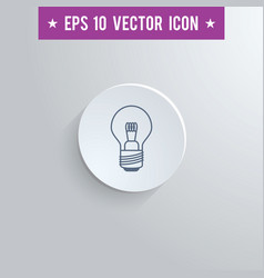 Lightbulb symbol icon on gray shaded background vector